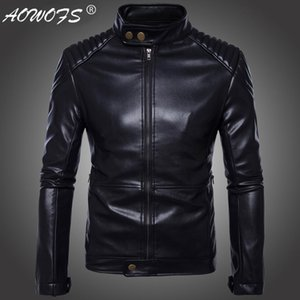 Wholesale Code European Export Germany Locomotive Leather Coat Fashion Carrie Motorcycle Leather Jacket MEN S Coat Black Background B008
