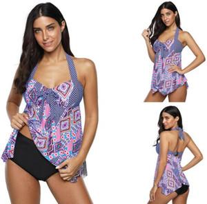 Design big Fat plus plus size swimwear skirt split fit skinny irregular hem skirt split flat angle swimsuit flexible stylish Bikinis sets