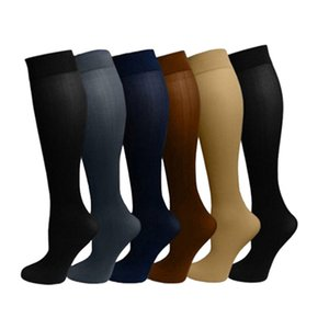 Wholesale Men Women Long Stretchy Compression Knee Socks Blood Circulation Stocking Durable Fat Burn Leg Slimming Socks Meias Calcetines