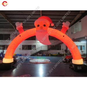 Wholesale LED lighting inflatable christmas arch for sale cheap Xmas inflatable archway for outdoor decoration promotional inflatables