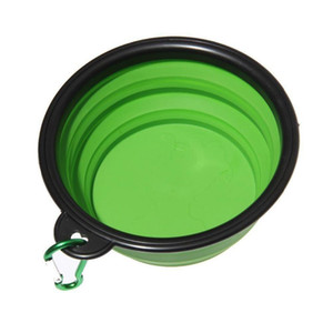 Wholesale travel accessories resale online - 1PC Dog Cat Water Food Bowl Silicone Portable Travel Bowl Feeder Outdoor Travel Carrier Dog Bowls Dispenser Bags Pet Accessories