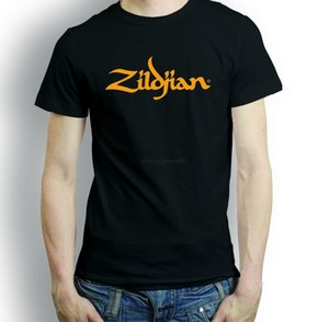 Wholesale ZILDJIAN CYMBALS DRUMS T SHIRT S XXL DRUMMER GIUTAR MUSIC TURKISH Hip Hop Simple Splicing Tee Tops T Shirt Light