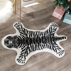 Wholesale cowhide rugs for sale - Group buy new tiger printed Rug Cow Leopard Tiger Printed Cowhide faux skin leather NonSlip Antiskid Mat Animal print Carpet
