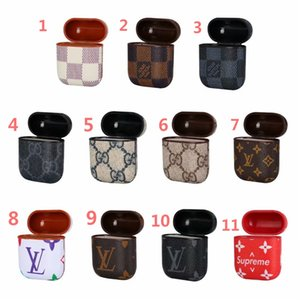 Wholesale Designer Leather Holster Protective Case for Airpod Bluetooth Earphone Trend Fashion Hook Clasp Keychain Anti Lost Headphone Shell Protector