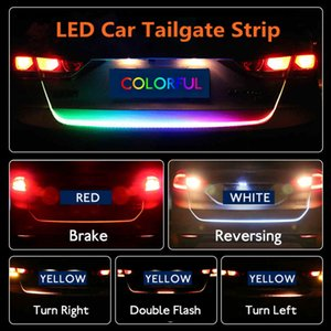 Wholesale LED Car Tailgate Light Strip Colors Brake Driving Turn Signal Lamp Driving Signal Knight Trunk Lamp HHA55