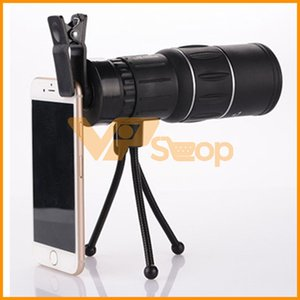 Wholesale 16X52 Monocular Telescope Cell Phone Camera Lens Single Cylinder Outdoor Hunting Monoculars Camping Scopes Spotting Scope Night Vision