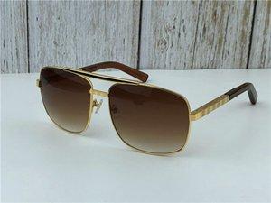 Wholesale new fashion classic sunglasses attitude sunglasses gold frame square metal frame vintage style outdoor design classical model 0259