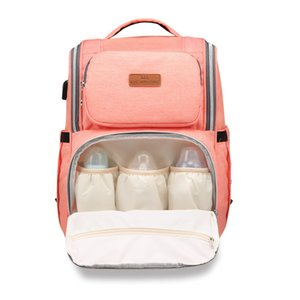 Large Capacity Mommy Backpack 5 Colors Nappies Bags Mother Maternity Diaper Backpack Multifunctional Mommy Changing Bag Travel Storage Bag on Sale
