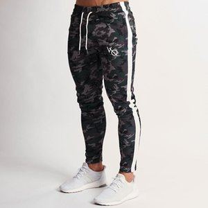 2019 Spring New Men Gyms Slim Joggers Gyms Woodland Camo Tricot Strike Tapered Sweatpants Casual Fashion Pant Long Pencil Pants