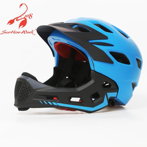 Wholesale kids full face helmet for sale - Group buy Kids full face bike bicycle helmet ultralight child mtb cycling motorcycle helmet parallel car skating riding safety sport hats