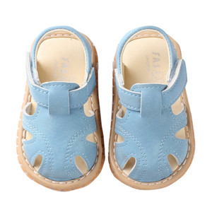 Wholesale New Summer Baby Boys Shoes Soft Toddle Boy Sandals Leather Breathable Hollow Out Baby Slippers Prewalker Sandal Shoes Beach