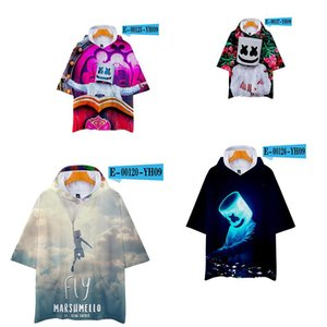 DJ Music t-shirt baby boys fashion 2019 Summer shirts clothes roblox long sleeve t shirt tops for children Marshmello 20pcs on Sale