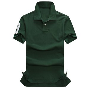 A2 Mens Designer Polos Brand small horse Crocodile Embroidery clothing men fabric letter polo t-shirt collar casual t-shirt tee shirt tops