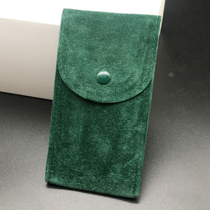 High Quality Smooth Green Pouch Watch Protective Case for Rolex Watches Pocket Gift 12.8 cm