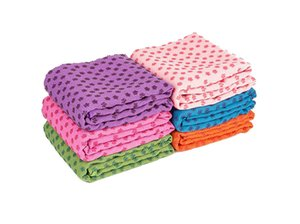 Wholesale yoga mat colors resale online - 7 Colors Yoga Mat Towel Blanket Non Slip Microfiber Surface with Silicone Dots High Moisture Quick Drying Baby Rugs Yoga Mats