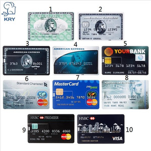 Wholesale Real Capacity Bank Card USB Memory stick HSBC Master Credit card USB Flash Drive gb Pendrive GB GB GB GB pen drive gb