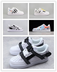 Wholesale box New Men Women Low Cut One Casual Shoes White Black Dunk Sports Skateboarding Shoes Classic AF Fly Trainers High Sneakers