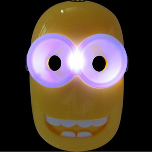 Wholesale Cartoon LED Flash Cosplay Film Mask For Halloween Xmas Kids Toys Adult Party Decoration Supplies