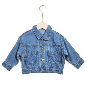 2019 Autumn Toddler Coats Fashion Korean Kids Boys Girls Jeans Jacket Coat Denim Blue Cardigan Coat For 1-7Yrs Children Clothes