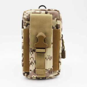 Wholesale Universal Phone Case Hip Waist Belt Wallet Bag Pouch Out door Sport Waist Pack Camping Hiking Camouflage Military bag for Iphoone Samsung