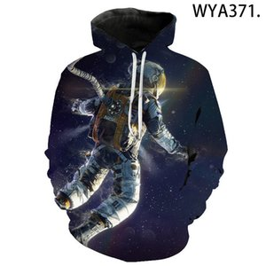 Wholesale space man suit resale online - summer Women Man Winter streetwear Hoodies Tops D Astronaut Space Suit Pullover Sweatshirt Terror Pocket Outwear Warm hoodies