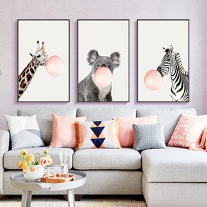 Wholesale Nordic Animal Adornment Painting Picture Frame For Living Room Decor Fashion Art Style Photo Frame Sofa Background Wall Pictures