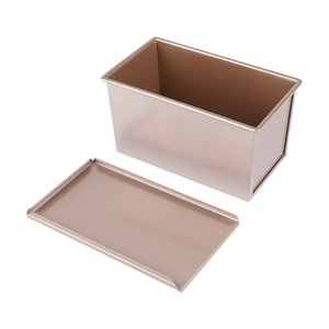 Wholesale Diniwell Rectangle Large Toast Bread Mold Box With Cover For Kids Birthday Cake Baking Pastry Dessert Mould Decorating Tools Q190430