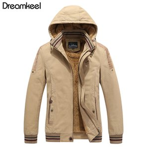 Wholesale Men Cotton Padded Hooded Jacket Winter JacketBreathable Warm Snow Thick Fleece Men s Casual Parkas Coat Plus Size Y