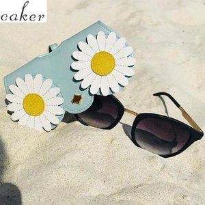 Wholesale Caker Brand Newest Design sunglasses case women bag small daisy glasses cover storge pouch dropshipping