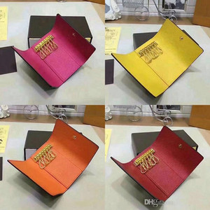 Wholesale keychain wallets for sale - Group buy designer key pouch key pouch High quality brand women men classic keys luxury keychain with box card key ring