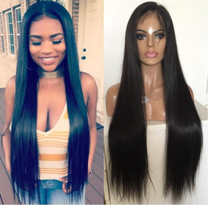 Wholesale european virgin hair lace wig resale online - Celebrity Wig Lace Front Wigs Silky Straight Natural Color A Grade European Virgin Human Hair Full Lace Wigs for Black Women