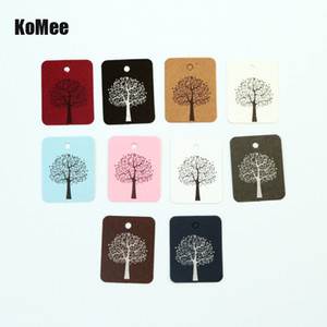 Wholesale Hot Sale x3 CM White Paper Clothing Price Tags Jewelry Gift Hang Tags Tree Print Square Label Jewelry Cards