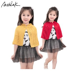 Wholesale ActhInK New Baby Girls Knitted Woolen Cape Brand Summer Girls Hollow Out Dress Bolero Kids Fall Cardigan Sweater for Girls, C320