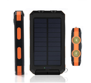 Solar commerce mobile power dual headlights 20000mAh milliampere charger phone fast charge black, blue, green, orange