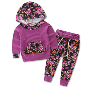 Wholesale Newborn Infant Baby INS Suits Hoodie Tops Pants Outfits Camouflage Clothing Set Girl Outfit Suits Kids Jumpsuits
