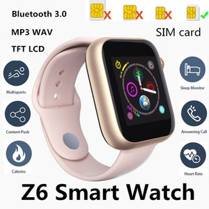Wholesale Newest Z6 Smartwatch For Apple Iphone Smart Watch Bluetooth Watches With Camera Supports SIM Card For Android Smart Phone PK DZ09 GT08 ID115