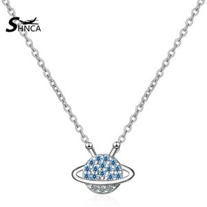 Wholesale SHNCA Brand Sterling Silver Starry Sky Cubic Zirconia Necklaces For Women Chokers Necklaces N001