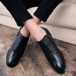 Wholesale Fashion Vintage British Style Casual Men Shoes Oxfords Business Man Flats Footwear Breathable Comfortable Outdoor Shoes
