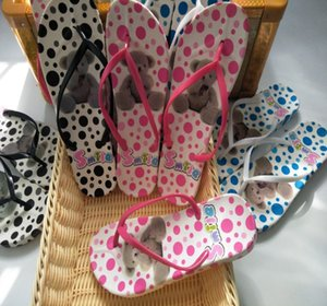 Wholesale 28 SIZE Korean version of sloping heel sandals with broken flower beach slippers new high quality summer sloping heels holiday sandals