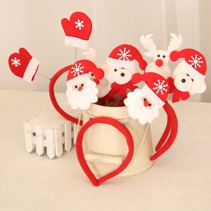 Wholesale santa snowman candles for sale - Group buy Christmas Headbands Santa Claus Snowman Hairband Xmas Kids Baby Hairhoop Party Decor Headwear Hair Accessories Gift