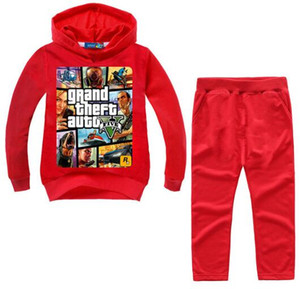 Wholesale 2 Y Grand Theft Auto Gta V Children Clothing Set Hoodies Pants Set Toddler Boys Clothing Kids Tracksuit Sportsuit Outfit