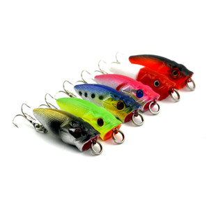 New Arrival 6 pcs lot Mini Popper Fishing Lures 3.5CM 2.7g 3D Eyes Bait Crankbait Wobblers Tackle Isca poper