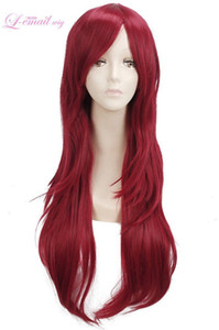 Wholesale LOL Katarina Erza Scarlet Women Long Red Straight Hair Cosplay Wig Anime Wigs