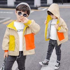 Boys jacket 2019 spring and autumn new Korean children's large pocket cotton windbreaker in the children's long-sleeved shirt on Sale