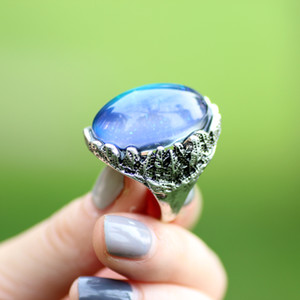 Womens Gift High Quality Big Emotion Feeling Color Change Ring Jewelry Mood Stone Championship Ring MJ-RS057