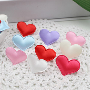Wholesale Silk Cute Heart Cloth Cake Decoration For Wedding Home Decoration Hats Shoes Scrapbook Decorative Craft Supplies