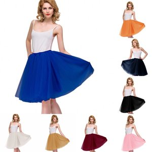 Wholesale tulle petticoat tutu skirt for sale - Group buy 2019 Cheap Women Mini Tutu Skirts Vinatge Layers Tulle Wedding Dress Petticoat Mini Underskirts Real Pictures Bridesmaid Shirt Wear CPA3200