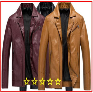 Wholesale New autumn winter men's leather 5XL Men Brand New Casual Motorcycle Leather Jacket Coat Men PU Leather Jackets Jaqueta De Couro Masculina