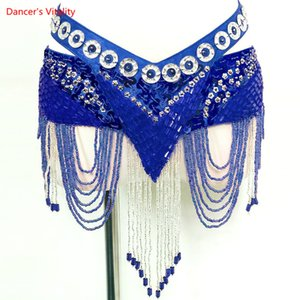 Wholesale New Colors Belly Dance Coin Belt Tribal Costume Fringe Tassel Belt Belly Dance Waist On Sale