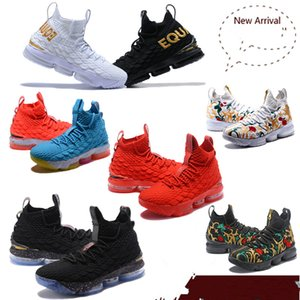 2019 High Quality Newest Ashes Ghost Lebron 15 Basketball Shoes Arrival Sneakers 15s Mens Casual 15 King James sports shoes LBJ EUR 40-46 on Sale